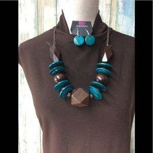 Paparazzi necklace in a Brown and Blue
